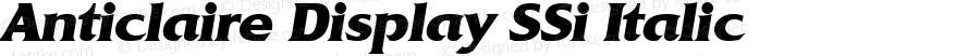 Anticlaire Display SSi Italic
