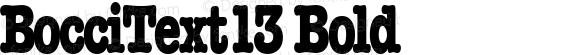BocciText13 Bold