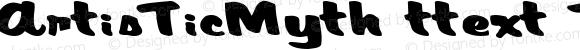 ArtisTicMyth Regular ttext