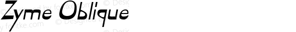 Zyme Oblique Macromedia Fontographer 4.1 7/8/96