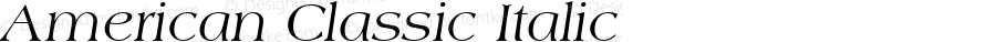 American Classic Italic Version 1.0