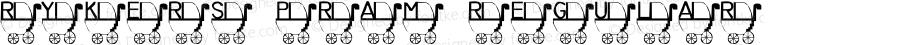 Rykers Pram Regular Macromedia Fontographer 4.1 10/07/2000
