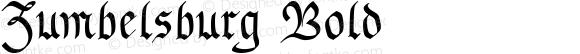 Zumbelsburg Bold Macromedia Fontographer 4.1.3 7/10/96
