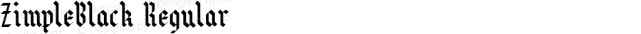 ZimpleBlack Regular Macromedia Fontographer 4.1.3 7/10/96
