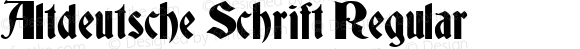 Altdeutsche Schrift Regular 1998; 2.0, initial release