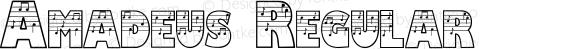 Amadeus Regular Macromedia Fontographer 4.1 13/07/2000