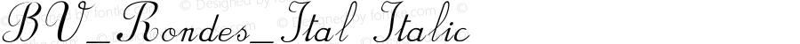 BV_Rondes_Ital Italic Version 1.00