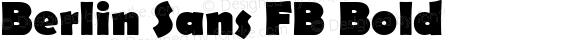 Berlin Sans FB Bold Version 1.00