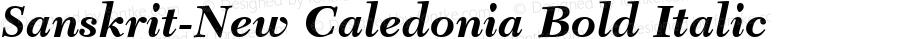 Sanskrit-New Caledonia Bold Italic Unknown