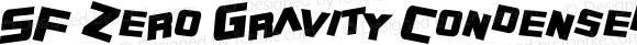 SF Zero Gravity Condensed Bold Italic 1.1