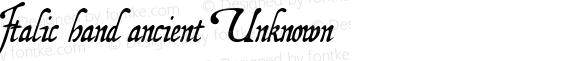 Italic hand ancient Unknown Macromedia Fontographer 4.1.4 11/7/99