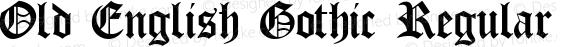 Old English Gothic Regular WSI:  7/20/94
