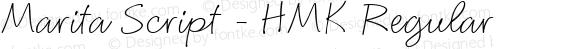 Marita Script - HMK Regular Altsys Fontographer 4.0 2/3/94