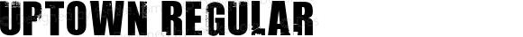 Uptown Regular Macromedia Fontographer 4.1 8/2/98
