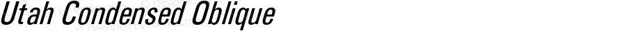 Utah Condensed Oblique Version 3.00