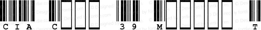 CIA Code 39 Medium Text Regular Unknown