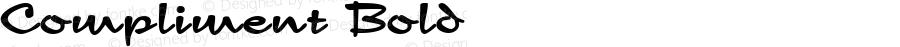 Compliment Bold Macromedia Fontographer 4.1 8/12/95