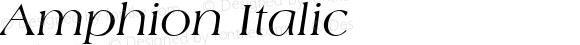Amphion Italic (C)opyright 1992 W.S.I.  8/7/92