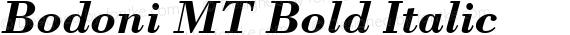 Bodoni MT Bold Italic preview image