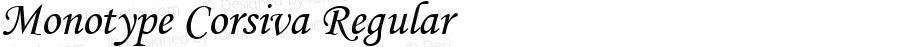Monotype Corsiva Regular Version 1.4 - East European character set