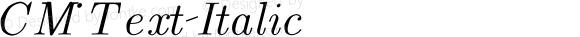 CM_Text Italic CMTI