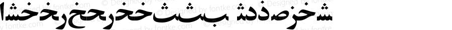 ArabicZibaSSK Regular Macromedia Fontographer 4.1 8/14/95