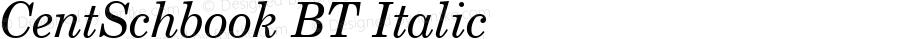 CentSchbook BT Italic