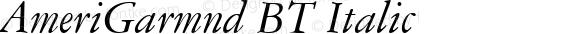 AmeriGarmnd BT Italic 1.0 Wed Apr 17 15:16:34 1996
