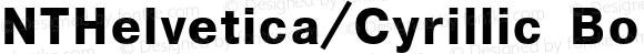 NTHelvetica/Cyrillic BoldOblique