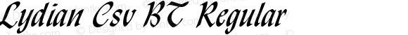 Lydian Csv BT Regular mfgpctt-v1.52 Wednesday, January 27, 1993 4:25:13 pm (EST)