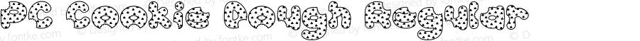 PC Cookie Dough Regular Macromedia Fontographer 4.1 11/12/1998