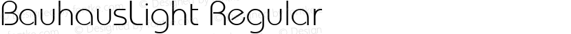 BauhausLight Regular Preview Image