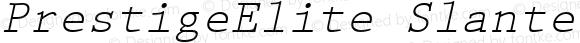 PrestigeElite Slanted Altsys Fontographer 4.0.2 97.5.26