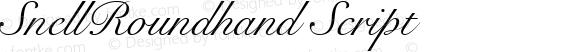 SnellRoundhand Script Altsys Fontographer 4.0.2 97.5.10