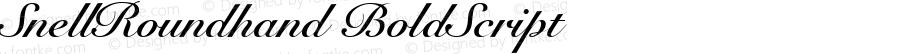 SnellRoundhand BoldScript Altsys Fontographer 4.0.2 97.5.10