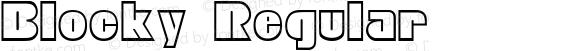 Blocky Regular Altsys Fontographer 4.0.2 97.5.10