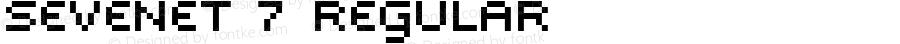 Sevenet 7 Regular Macromedia Fontographer 4.1.4 20.8.1998