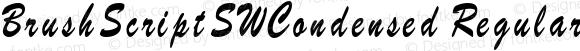 BrushScriptSWCondensed Regular
