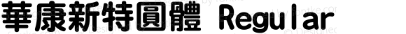 華康新特圓體 Regular 1 July., 2000: Unicode Version 2.00