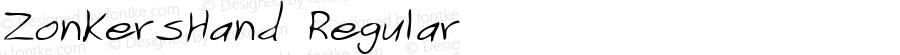 ZonkersHand Regular Print Artist: Sierra On-Line, Inc.