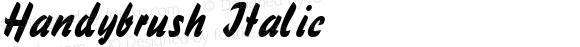 Handybrush Italic W.S.I. Int'l v1.1 for GSP: 6/20/95