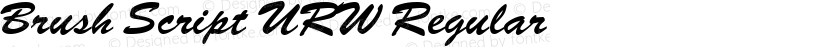 Brush Script URW Regular Preview Image