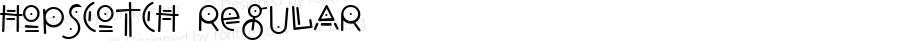 Hopscotch Regular Macromedia Fontographer 4.1.5 9/3/98