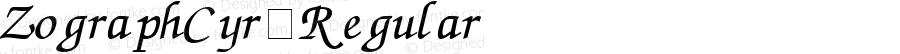 ZographCyr Regular Version 1.01