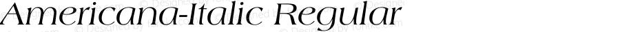 Americana-Italic Regular Unknown