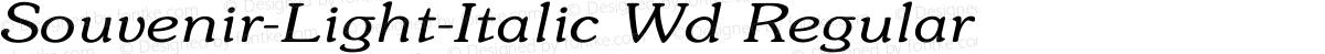 Souvenir-Light-Italic Wd Regular