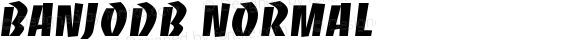 BanjoDB Normal Altsys Fontographer 4.0.3 8.9.1994