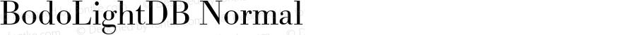 BodoLightDB Normal Altsys Fontographer 4.0.3 8.9.1994