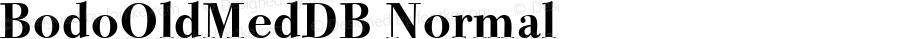BodoOldMedDB Normal Altsys Fontographer 4.0.3 8.9.1994