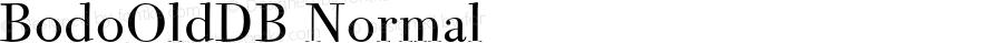 BodoOldDB Normal Altsys Fontographer 4.0.3 8.9.1994